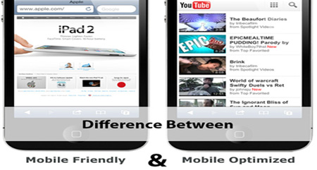 Mobile friendly vs Mobile optimized